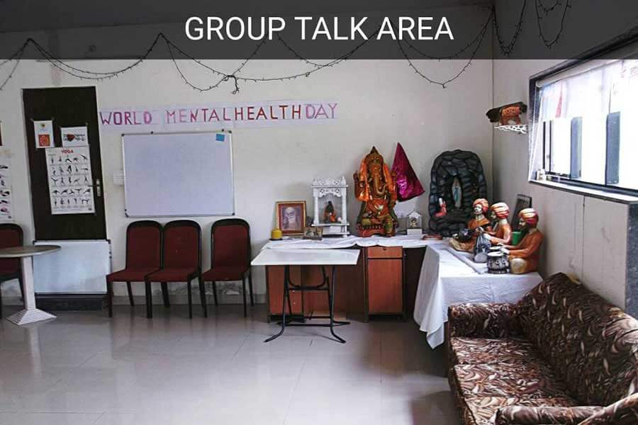 Rehabilitation Group Talk Area Mumbai - Sunshine Wellness Centre